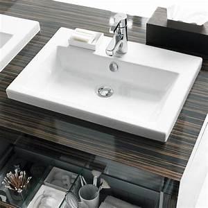vasque semi encastree 2nd floor 600mm With salle de bain design avec vasque semi encastrable
