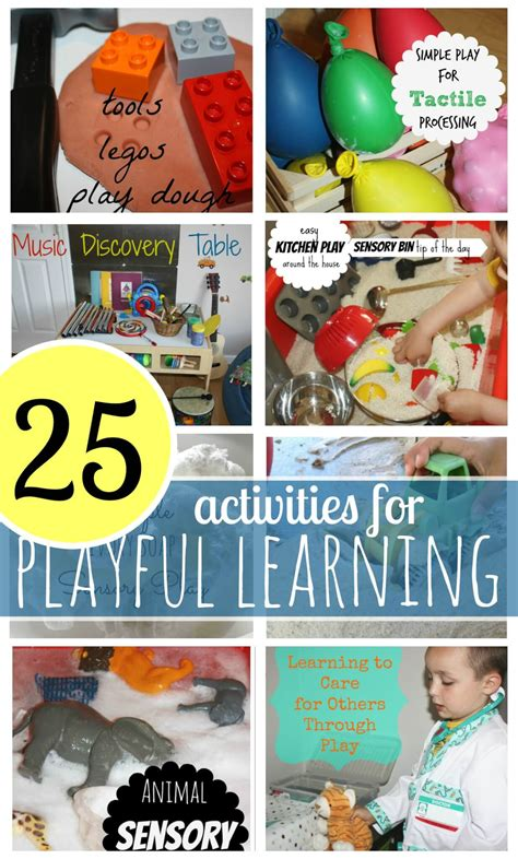 playful learning preschool activities bins for 143 | 25 Activities For Playful Learning