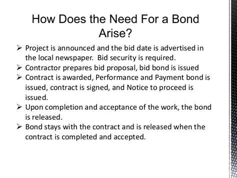 bid bond surety bond 101