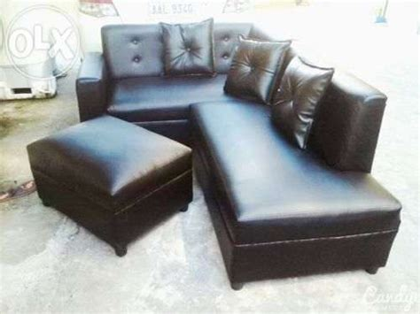For Sale Sofa Set Philippines by Black Leather L Shape Sofa Set For Sale Philippines Find
