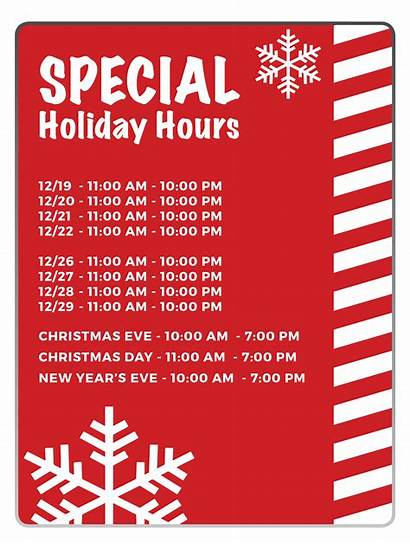 Hours Holiday Special K1 Speed December