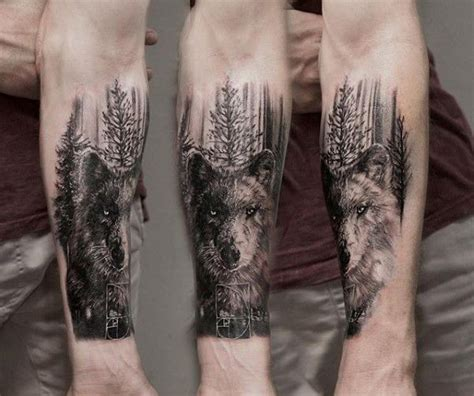 Forearm Tree Tattoo Designs For Men Forest Ink Ideas