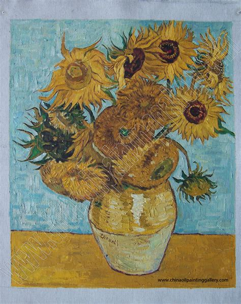 Museum Quality Oil Painting Reproductions Of Sunflowers By