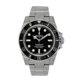 Rolex Submariner Stainless-Steel No Date Black Dial 40MM ...