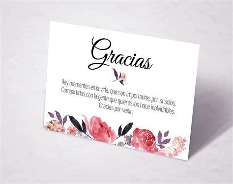 tarjeta de agradecimientos tarjeta agradecimiento imprimible sweet emotion