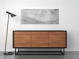 Sideboards Italienisches Design : midcentury modern sideboard walnut and black tv m bel pinterest mitte des jahrhunderts ~ Markanthonyermac.com Haus und Dekorationen