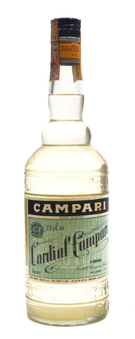 cordial liqueur cordial campari vintage 70 italie liqueur