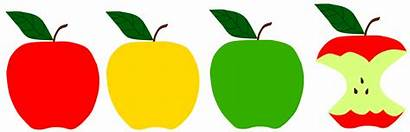Apple Clipart Leaf Apples Storytime Sunflower Yellow