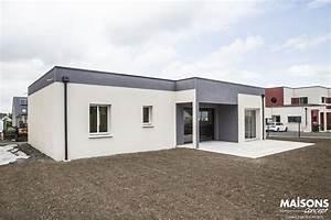 Photo maison neuve maison moderne a toit plat for Marvelous maison toit plat en l 4 maison neuve contemporaine toit plat