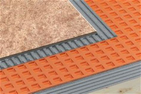Tile Underlayment Membrane Orange by Waterproof Uncouple Drain Rees Floor Covering Inc