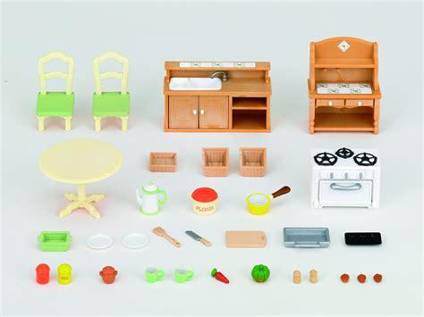 accessoire cuisine jouet sylvanian families 2951 poupées et accessoires set cuisine sylvanian amazon fr jeux et