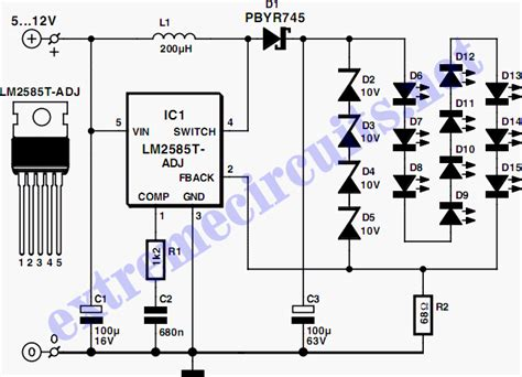 cool electronics circuits white led l
