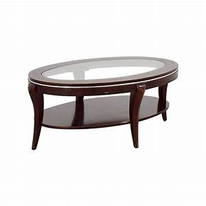 89 off wood and glass oval coffee table tables With glass and wood oval coffee table