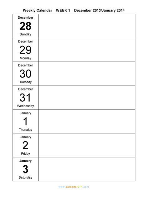 weekly template free weekly calendar new calendar template site