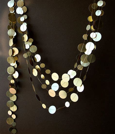 gold wedding garland gold garland from transparentesdecor on