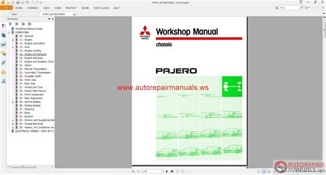mitsubishi pajero 1991 2003 eng auto repair manual