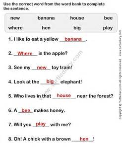 Simple sentences for kids