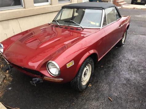 1974 Fiat 124 Spider by 1974 Barn Find Fiat 124 Spider