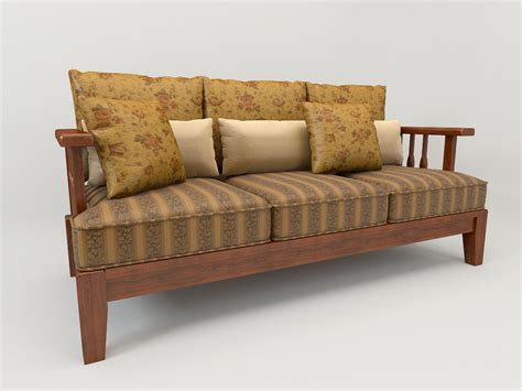 sofa country style free 3d model max cgtrader