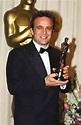Pietro Scalia with his film editing award for Black Hawk ...