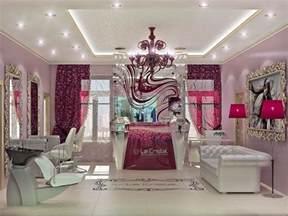 interior design beauty salon burgundy color sal 227 o de