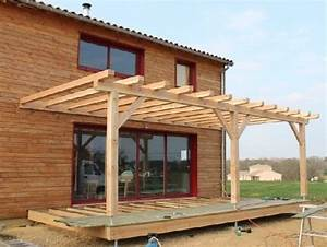 Fabriquer Une Pergola En Alu : faire une pergola en bois pour terrasse ~ Edinachiropracticcenter.com Idées de Décoration