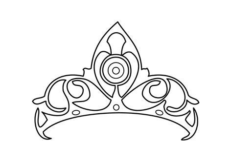 tiara coloring page getcoloringpagescom