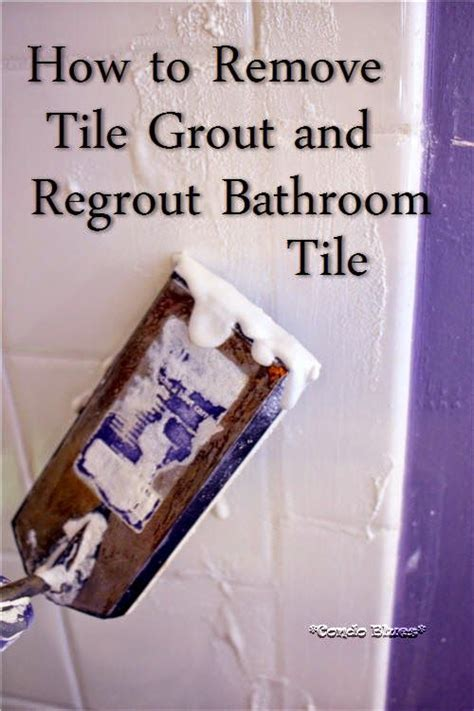 How To Remove Grout And Regrout Tile  Other, Bathroom