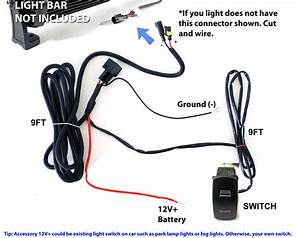 40a Fog Work Led Light Bar Wiring Harness Relay Fuse Kit