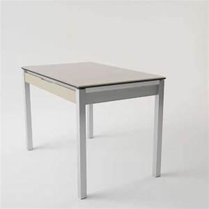 Table De Cuisine Avec Tiroir : table de cuisine en verre extensible avec tiroir camel ~ Teatrodelosmanantiales.com Idées de Décoration