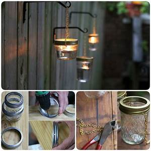 Diy, Hanging, Mason, Jar, Lantern, To, Add, A, Romantic, Glow, To, Your, Patio