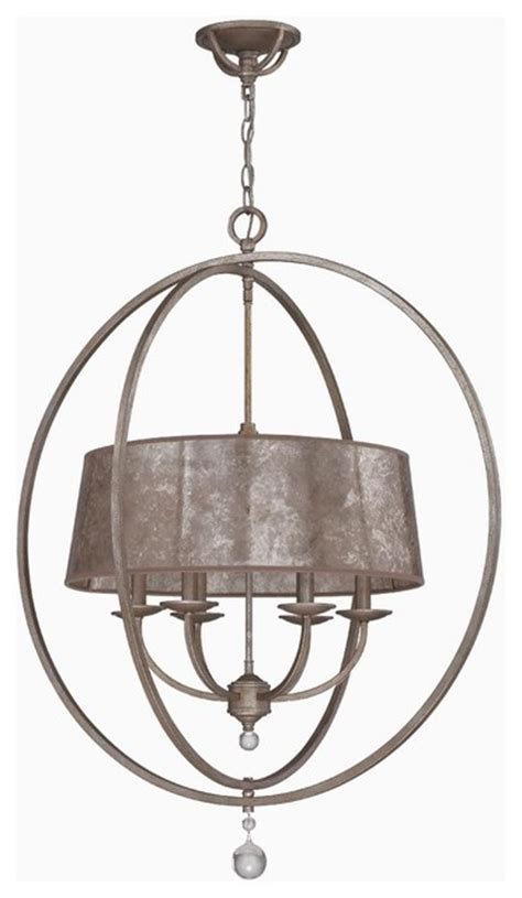 small mica drum shade and rings chandelier l shades