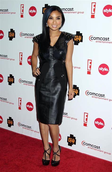 jeannie mai platform pumps heels lookbook stylebistro