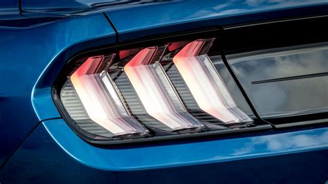 ford mustang led tail lights  wallpaper hd car