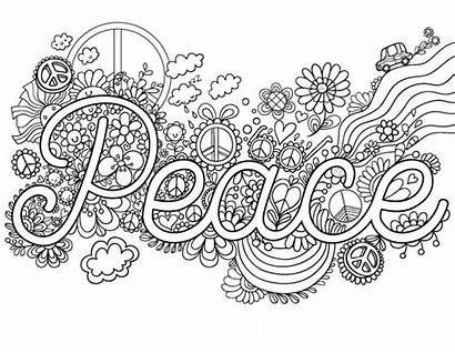 Peace Sign Coloring Pages Adults Hand Drawing