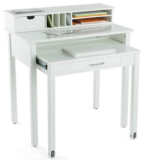 white roll out desk modern desks and hutches by the