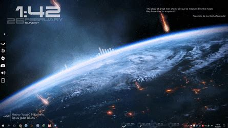 Rainmeter Animated Wallpaper - me3 theme with animated wallpaper rainmeter
