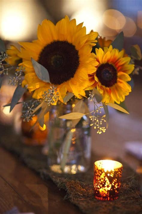 sunflower centerpieces  pinterest sunflower