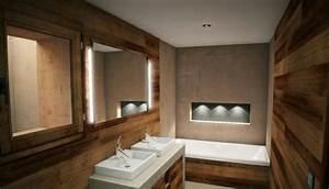 Badezimmer Spiegel Beleuchtung : attraktive badezimmer mit badewannen aus holz ~ Watch28wear.com Haus und Dekorationen