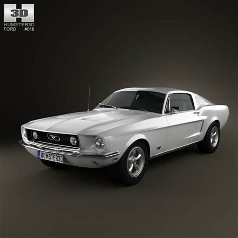 Ford Mustang GT 1967 3D model for Download in various formats
