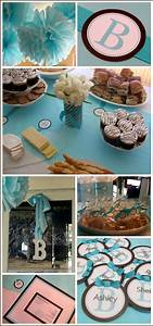 Tiffany Blue and Brown Bridal Shower | The Cake Blog