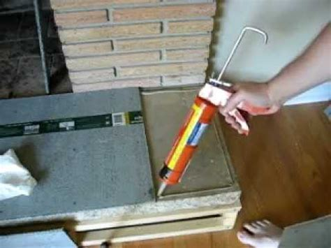 Securing cement board with adhesive   YouTube