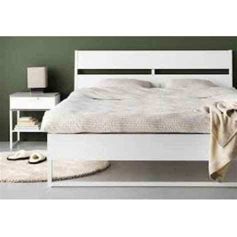 Trysil Ikea Bett by Ikea Trysil Bed Frame White Light Grey With Slats
