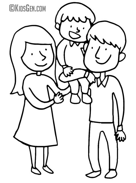 happy family colouring pages sketch coloring page