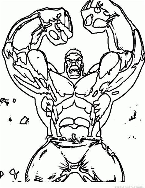 Hulk Superhero Coloring Pages