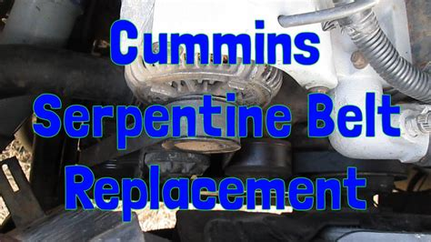 Serpentine Belt Replacement Gen Dodge Ram Cummins