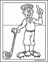 Coloring Golf Golfer Pages Sheet Pdf Colorwithfuzzy sketch template