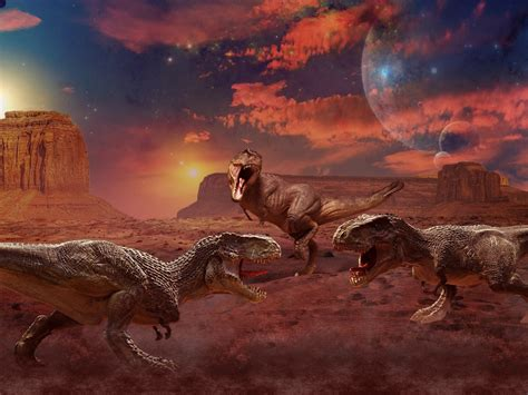 ancient animals dinosaurs painting art   animals hd