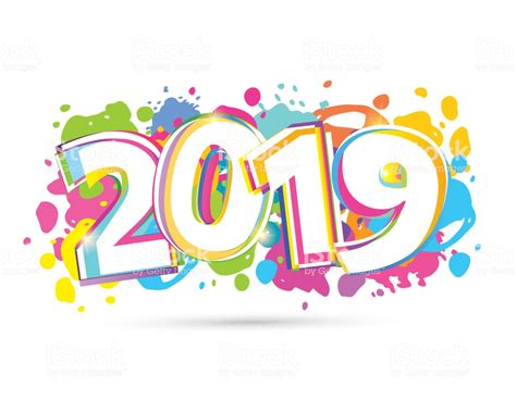Happy New 2019 Year Banner Stock Vector Art & More Images