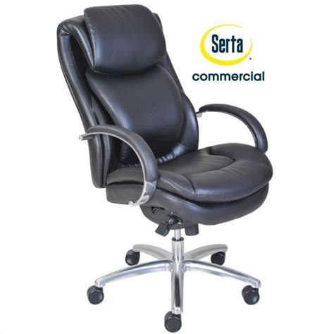 serta back in motion executive office chair in black